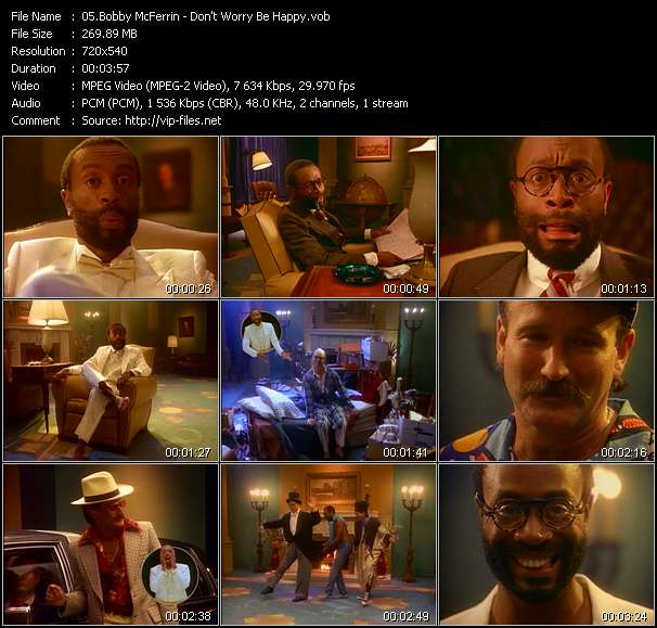 download Bobby McFerrin « Don't Worry Be Happy » video vob