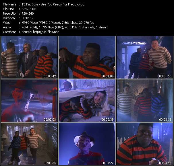 download Fat Boys « Are You Ready For Freddy » video vob