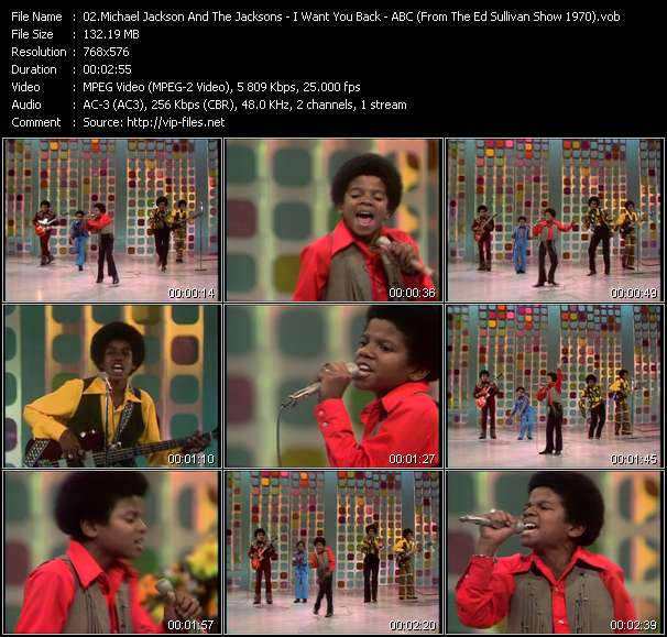 download Michael Jackson And The Jacksons (Jackson 5) « I Want You Back - ABC (From The Ed Sullivan Show 1970) » video vob