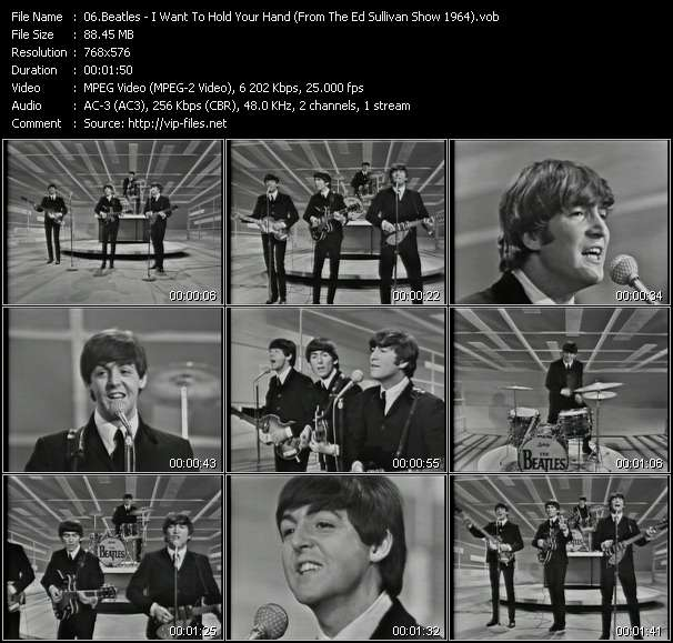 download Beatles « I Want To Hold Your Hand (From The Ed Sullivan Show 1964) » video vob