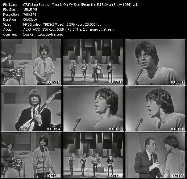 download Rolling Stones « Time Is On My Side (From The Ed Sullivan Show 1964) » video vob