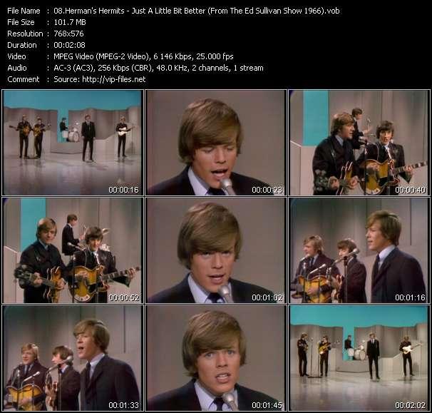 video Just A Little Bit Better (From The Ed Sullivan Show 1966) screen