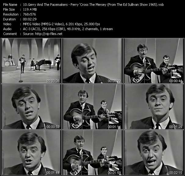 download Gerry And The Pacemakers « Ferry 'Cross The Mersey (From The Ed Sullivan Show 1965) » video vob