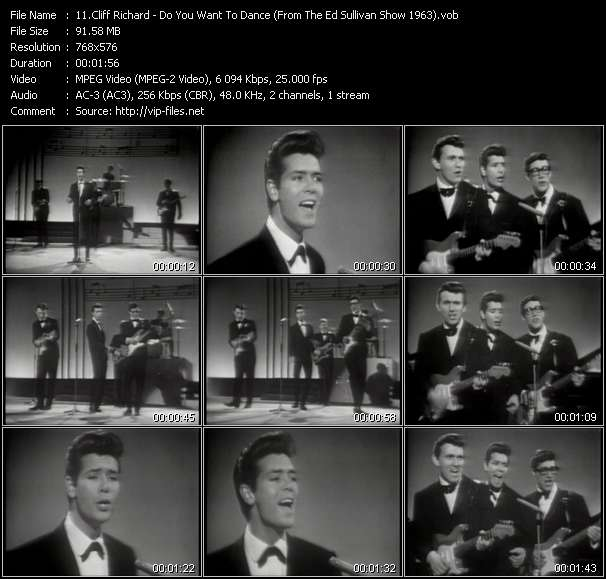 download Cliff Richard « Do You Want To Dance (From The Ed Sullivan Show 1963) » video vob