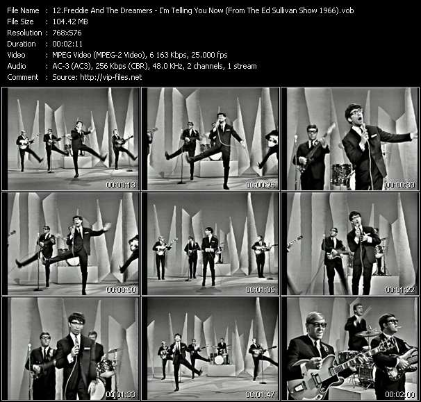 download Freddie And The Dreamers « I'm Telling You Now (From The Ed Sullivan Show 1966) » video vob