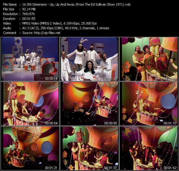 video Up, Up And Away (From The Ed Sullivan Show 1971) screen