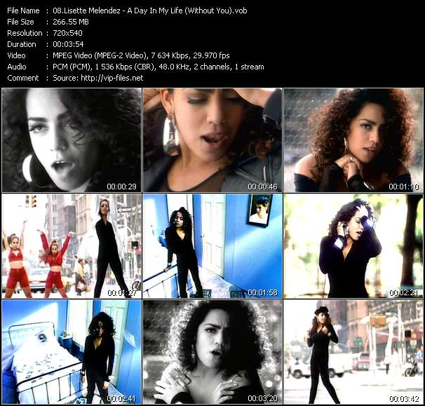 download Lisette Melendez « A Day In My Life (Without You) » video vob