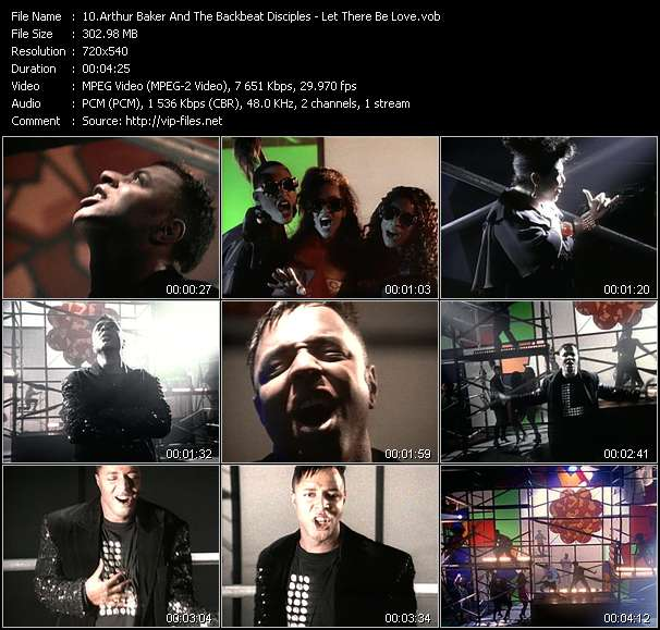download Arthur Baker And The Backbeat Disciples « Let There Be Love » video vob