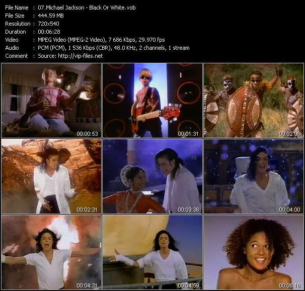 download Michael Jackson « Black Or White » video vob