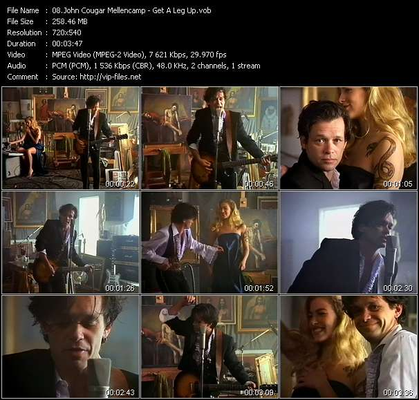 download John Cougar Mellencamp « Get A Leg Up » video vob