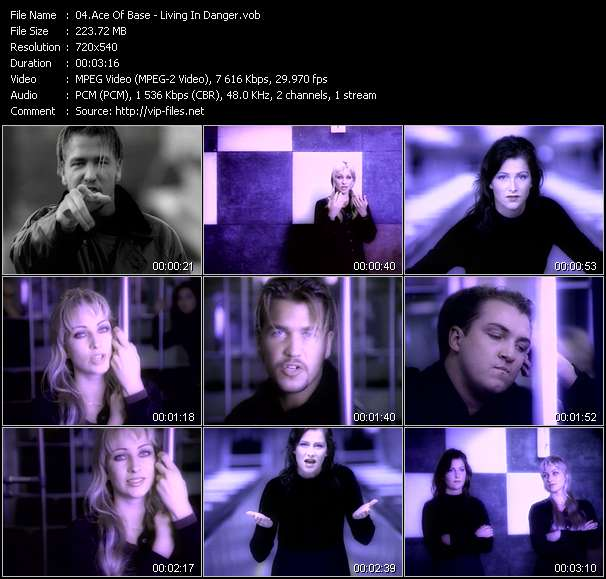download Ace Of Base « Living In Danger » video vob