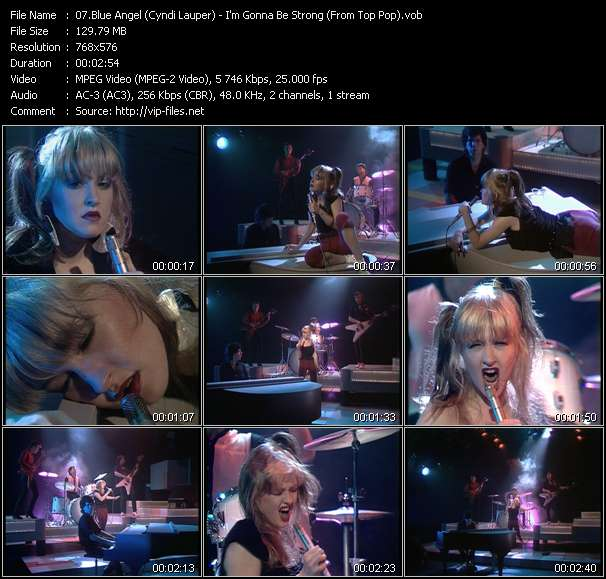 download Blue Angel (Cyndi Lauper) « I'm Gonna Be Strong (From Top Pop) » video vob