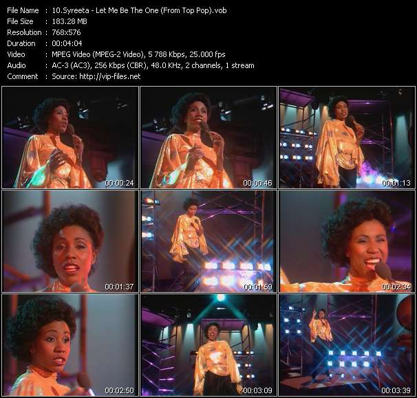 download Syreeta « Let Me Be The One (From Top Pop) » video vob