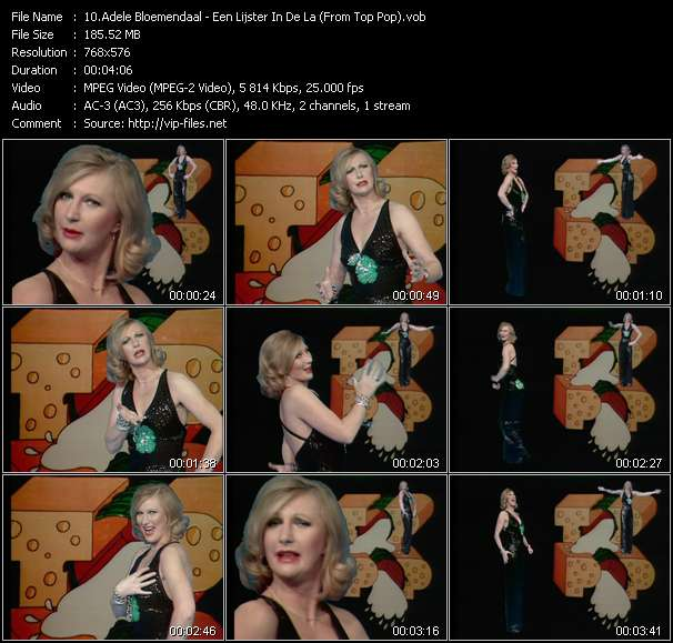 download Adele Bloemendaal « Een Lijster In De La (From Top Pop) » video vob