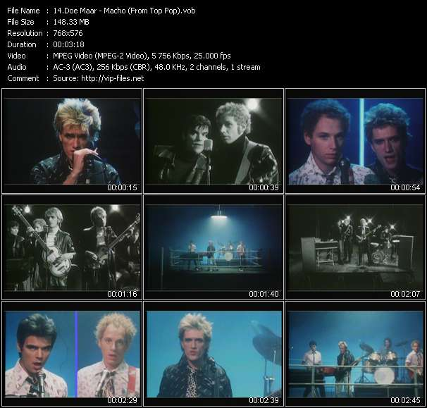 download Doe Maar « Macho (From Top Pop) » video vob