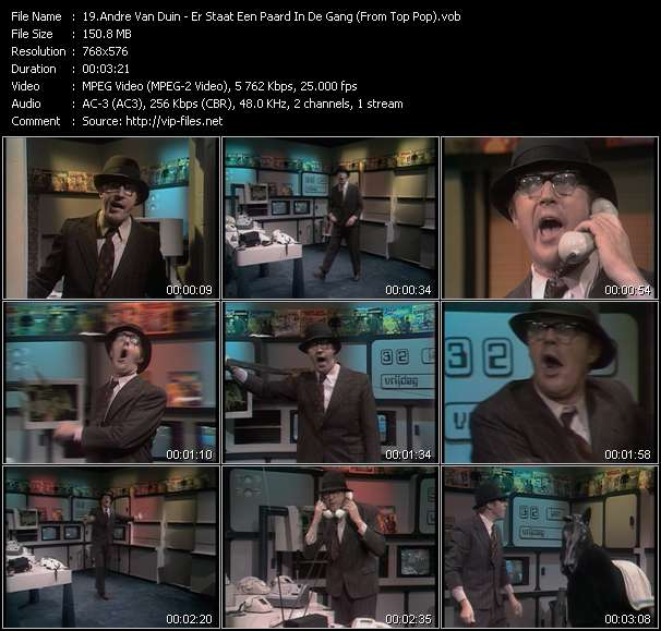 video Er Staat Een Paard In De Gang (From Top Pop) screen