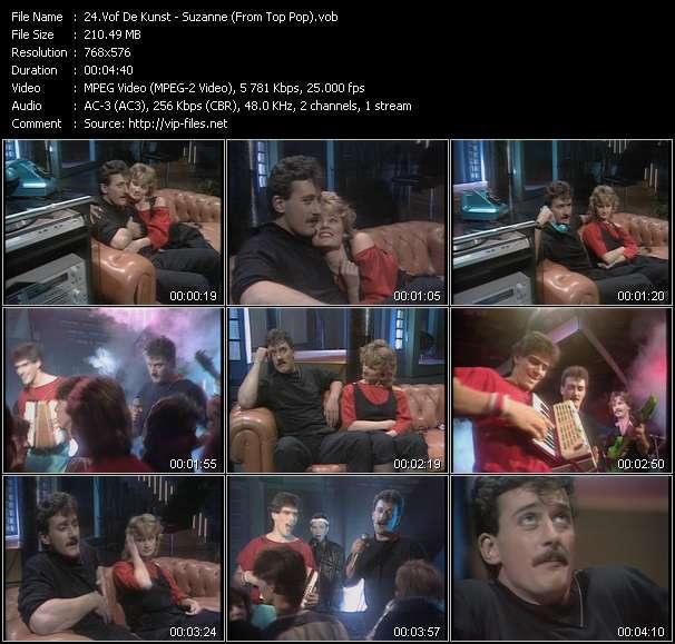 download Vof De Kunst « Suzanne (From Top Pop) » video vob