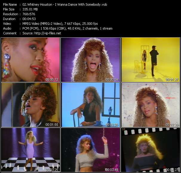 download Whitney Houston « I Wanna Dance With Somebody » video vob