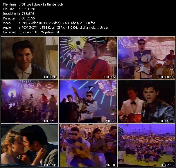 download Los Lobos « La Bamba » video vob