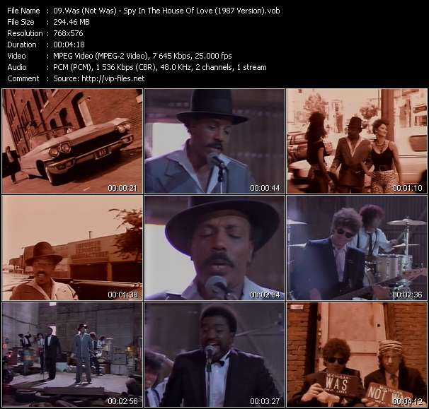 download Was (Not Was) « Spy In The House Of Love (1987 Version) » video vob
