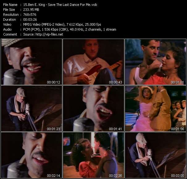 download Ben E. King « Save The Last Dance For Me » video vob