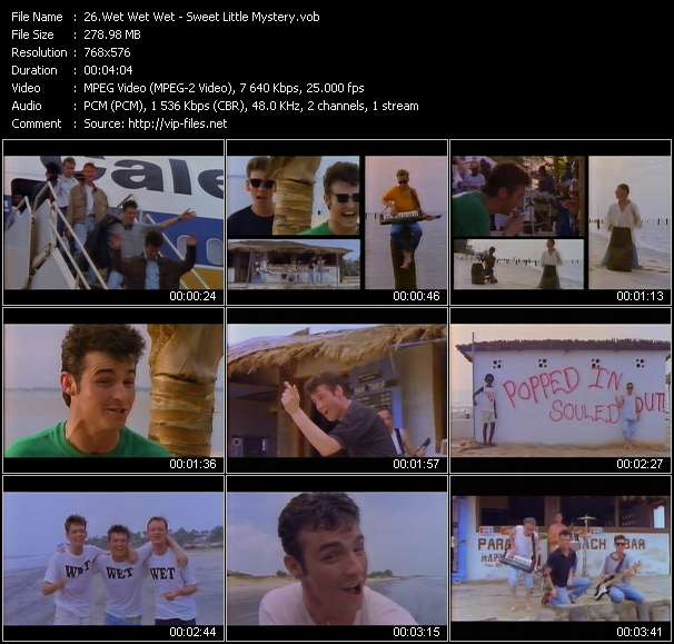 download Wet Wet Wet « Sweet Little Mystery » video vob
