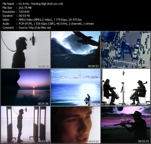 download A-Ha « Hunting High And Low » video vob