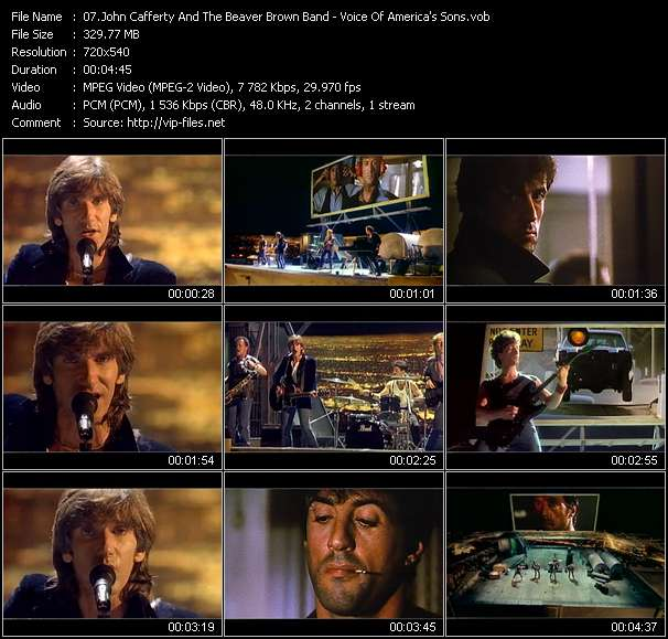 download John Cafferty And The Beaver Brown Band « Voice Of America's Sons » video vob
