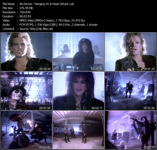 download Device « Hanging On A Heart Attack » video vob
