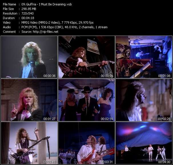 download Giuffria « I Must Be Dreaming » video vob