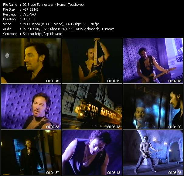 download Bruce Springsteen « Human Touch » video vob