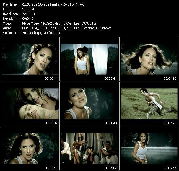 download Soraya (Soraya Lamilla) « Solo Por Ti » video vob