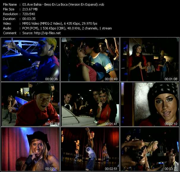 download Axe Bahia « Beso En La Boca (Version En Espanol) » video vob