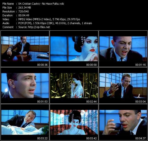 download Cristian Castro « No Hace Falta » video vob