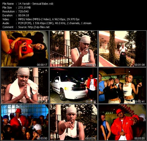 download Yaviah « Sensual Babe » video vob