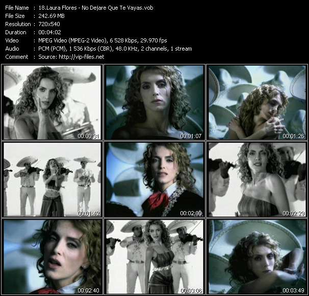 download Laura Flores « No Dejare Que Te Vayas » video vob