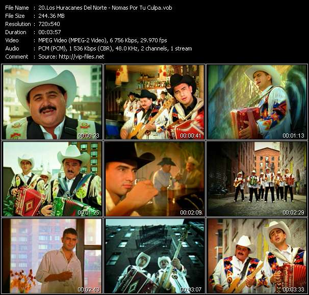 download Los Huracanes Del Norte « Nomas Por Tu Culpa » video vob