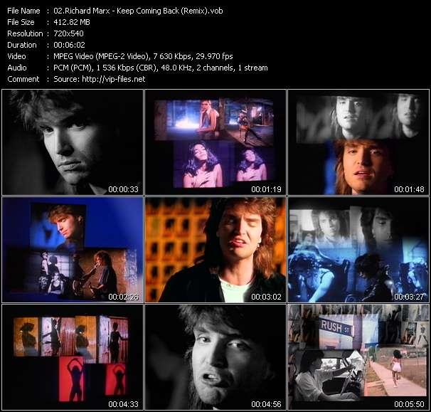 download Richard Marx « Keep Coming Back (Remix) » video vob