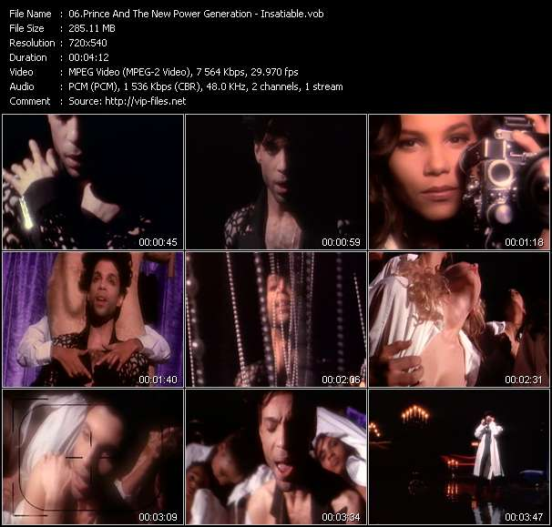 download Prince And The New Power Generation « Insatiable » video vob