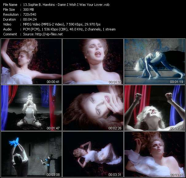 download Sophie B. Hawkins « Damn I Wish I Was Your Lover » video vob
