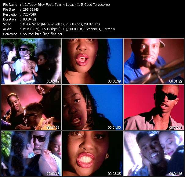 download Teddy Riley Feat. Tammy Lucas « Is It Good To You » video vob