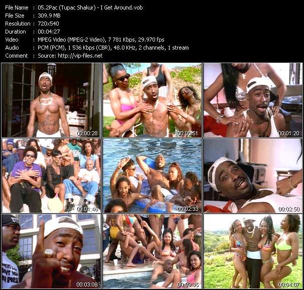 download 2Pac (Tupac Shakur) « I Get Around » video vob