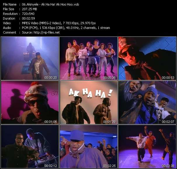 download Akinyele « Ak Ha Ha! Ak Hoo Hoo? » video vob