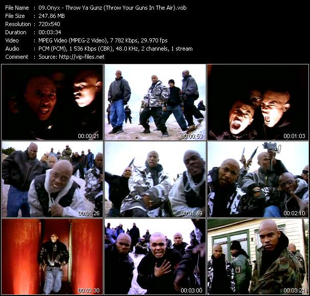 download Onyx « Throw Ya Gunz (Throw Your Guns In The Air) » video vob