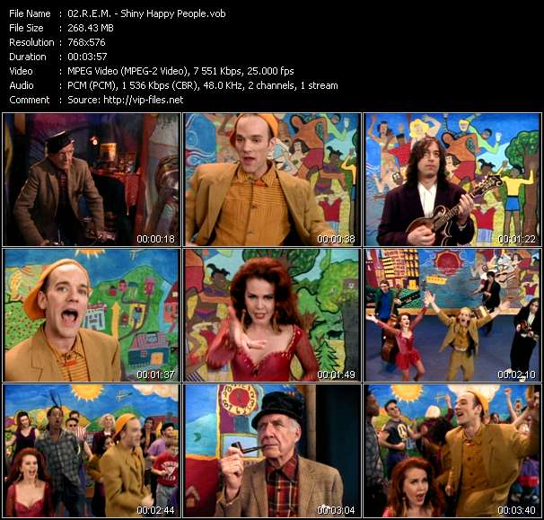download R.E.M. « Shiny Happy People » video vob