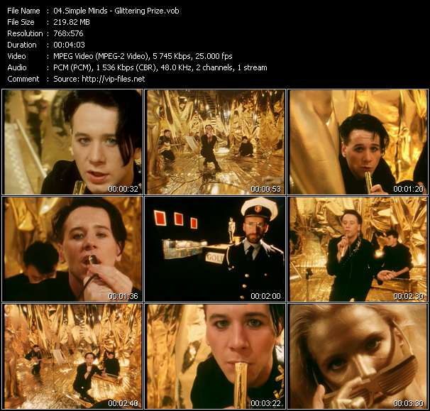 download Simple Minds « Glittering Prize » video vob