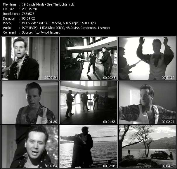 download Simple Minds « See The Lights » video vob