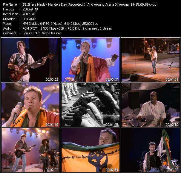 video Mandela Day (Recorded In And Around Arena Di Verona, Italy, 14-15.09.89) screen