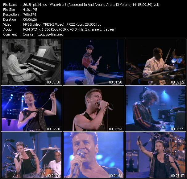 video Waterfront (Recorded In And Around Arena Di Verona, Italy, 14-15.09.89) screen