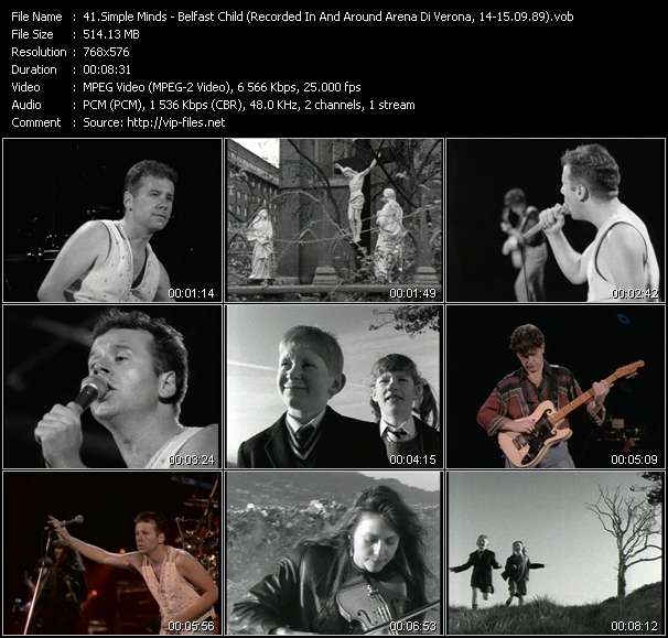 video Belfast Child (Recorded In And Around Arena Di Verona, Italy, 14-15.09.89) screen